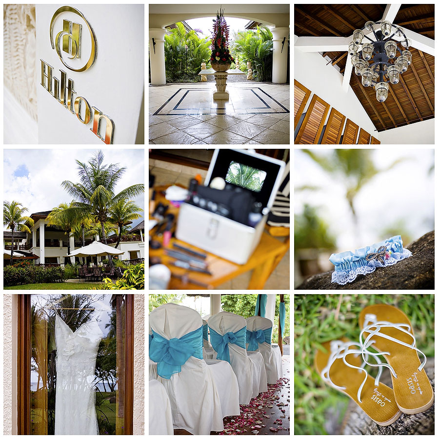 Wedding photography at The Hilton, Mauritius