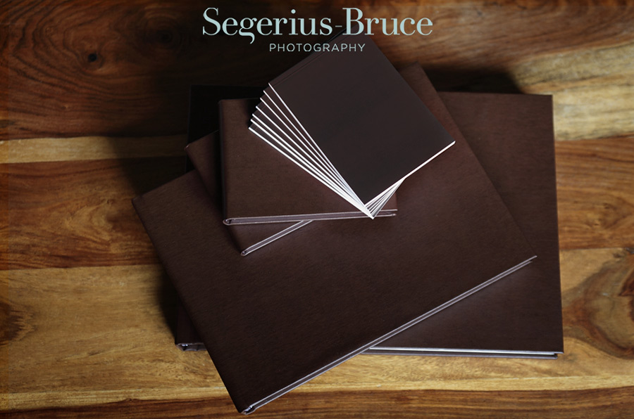 Leather Coffee Table Wedding Albums