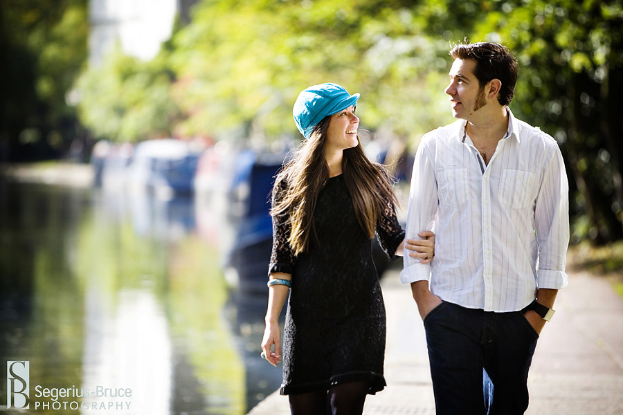 Engagement Photo Session around Camden Lock in London