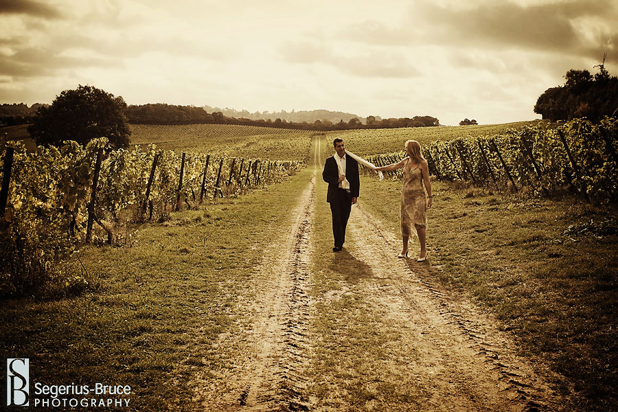 Denbies Vineyard portrait session