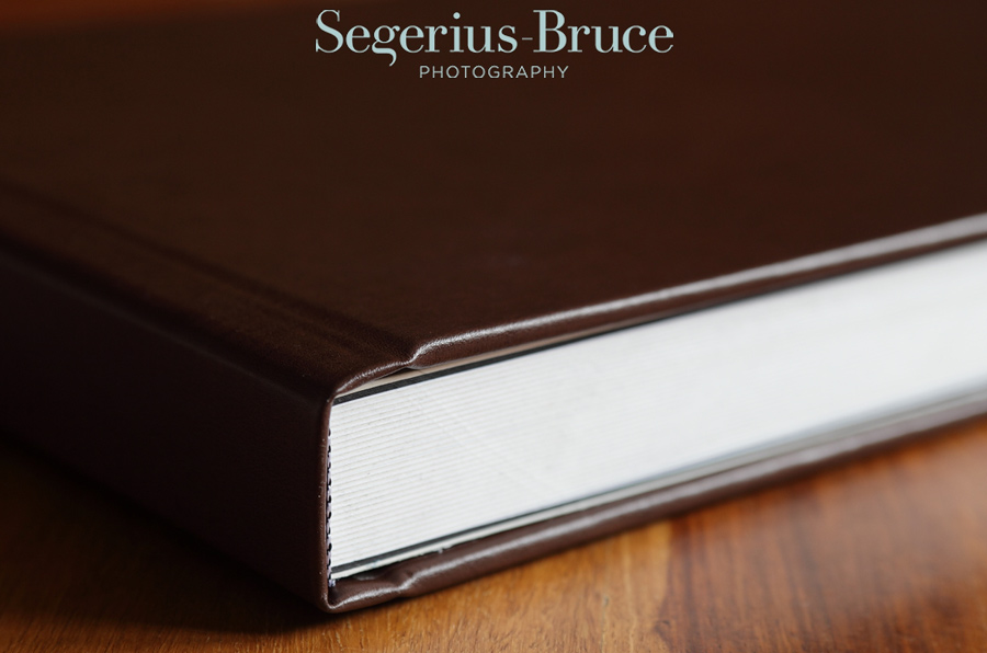 Leather Coffee Table Wedding Album by Segerius Bruce