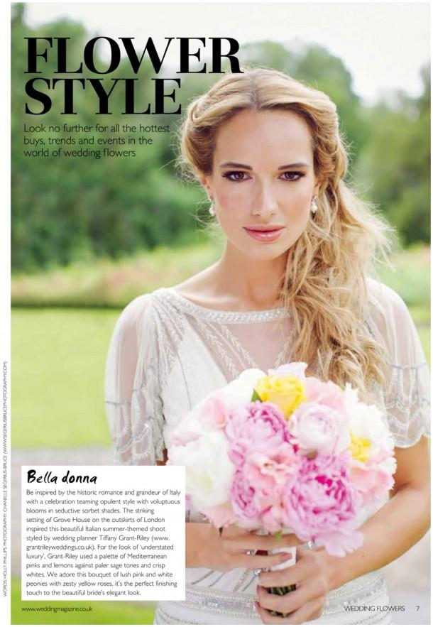 Wedding Flowers Magazine Style Bridal Fashion Shoot Grove House  (1)