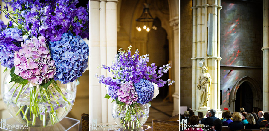 Jamie Aston does the flowers for a wedding at Arundel Cathedral