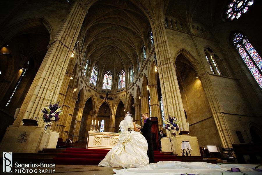 wedding ceremomy Arundal Cathedral