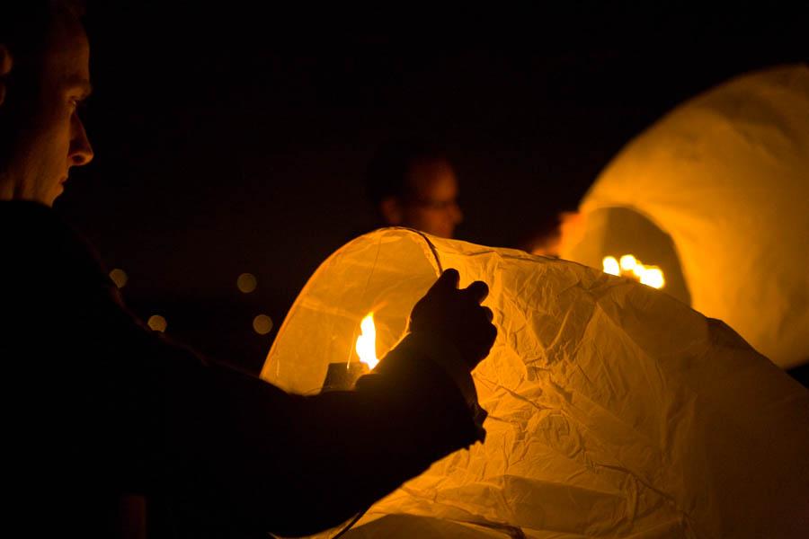 lantern lighting at a wedding