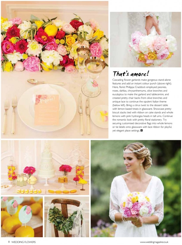 Wedding Flowers Magazine Style Bridal Fashion Shoot Grove House  (2)