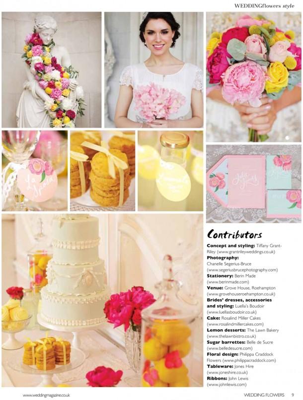 Wedding Flowers Magazine Style Bridal Fashion Shoot Grove House  (3)