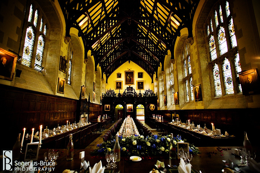 Harry Potter dining hall, Exeter College Wedding in Oxford