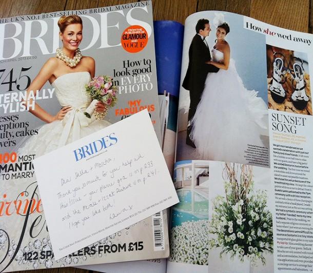 Brides Magazine UK March 2013 Santorini Wedding Segerius Bruce