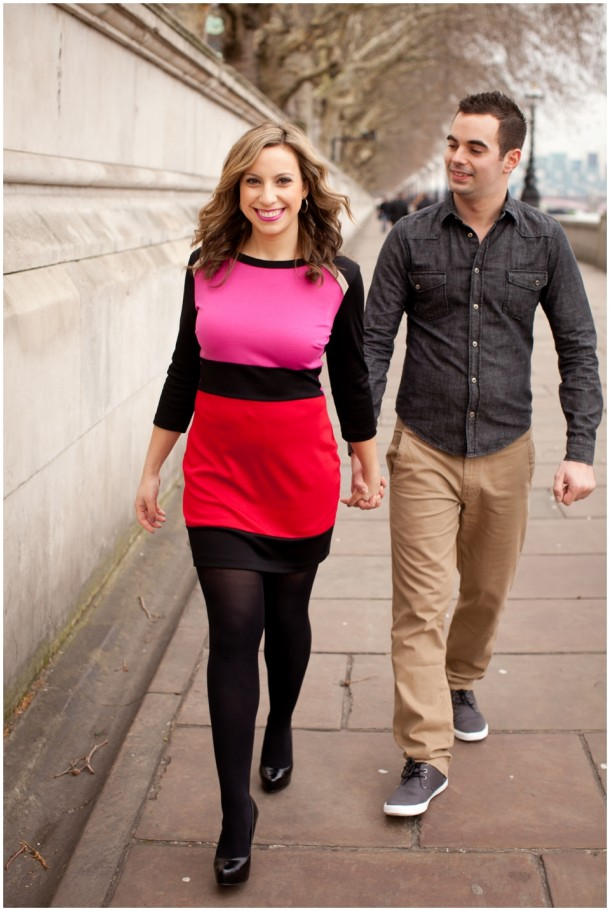 A London Pre Wedding Engagement shoot with colour blocking (9)