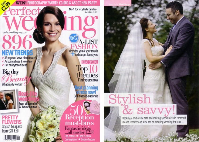 Perfect Wedding Magazine, published Bradley House Real Wedding