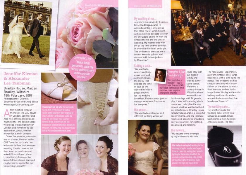 Bradley House Wiltshire wedding in Perfect Wedding Magazine