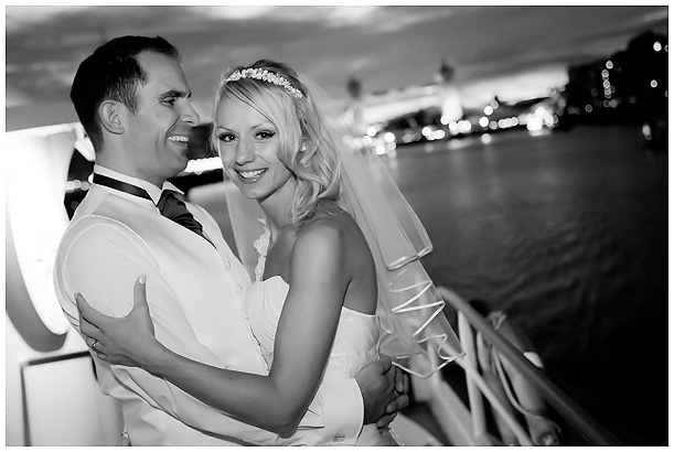 wedding on a boat on the river Thames