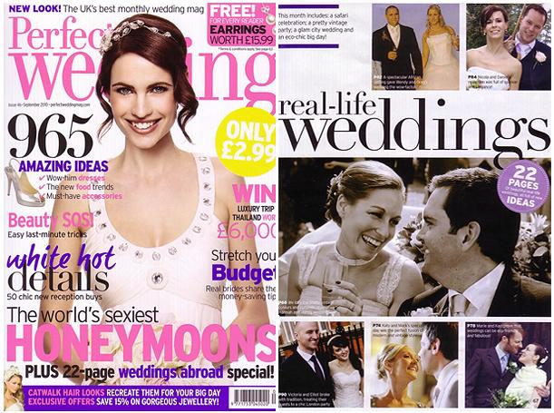 Tala Game Reserve wedding published in Perfect Wedding Magazine