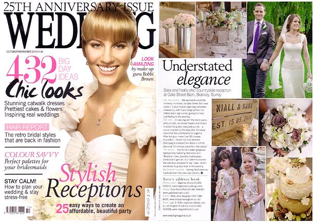 Wedding Magazine Gatestreet Barn in Surrey