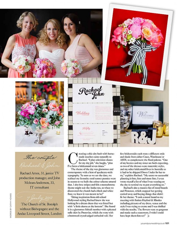 Wedding at The Andaz London published You & Your Wedding (2)