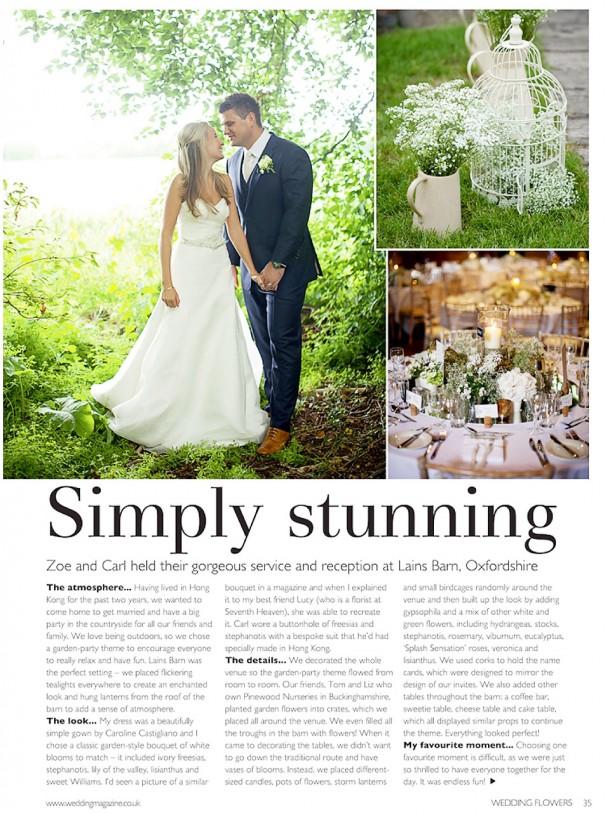 Lains Barn Wedding Flowers Magazine (1)