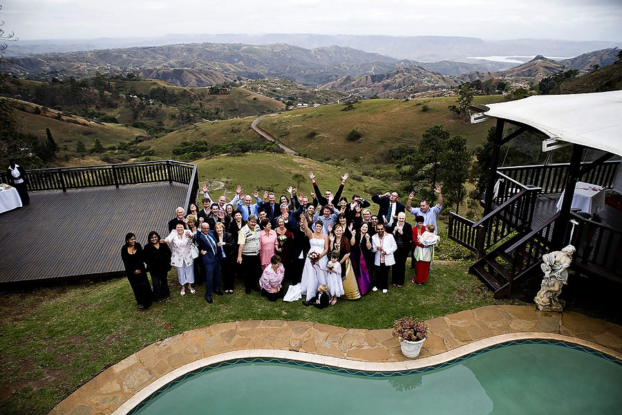 Group shot of the entire Wedding Party at Bella Vista