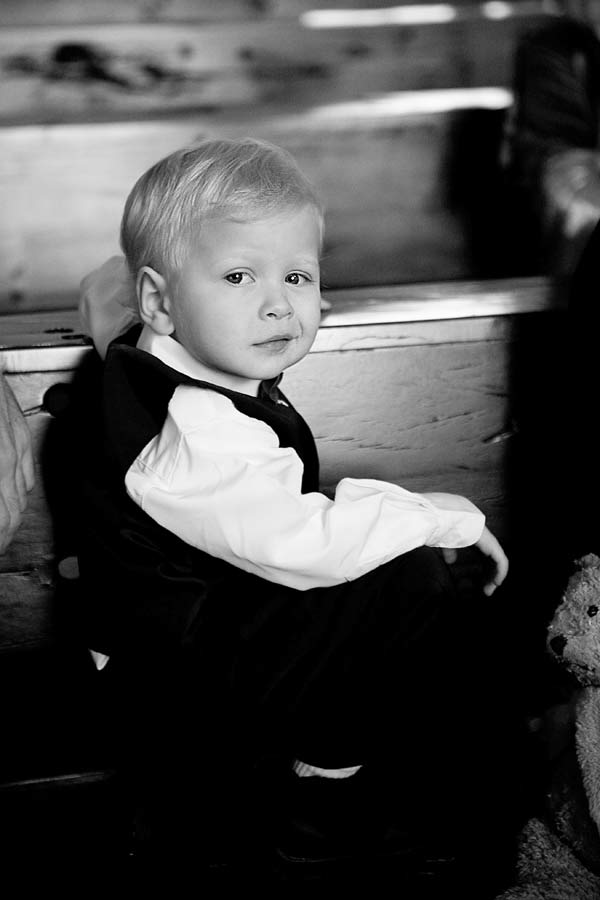 Pageboy at a wedding