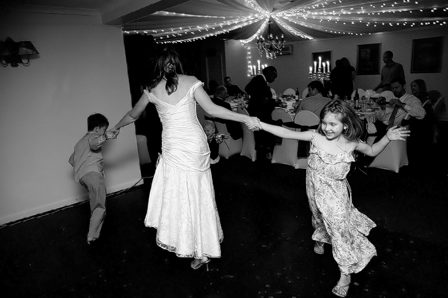 Bride dancing at the reception