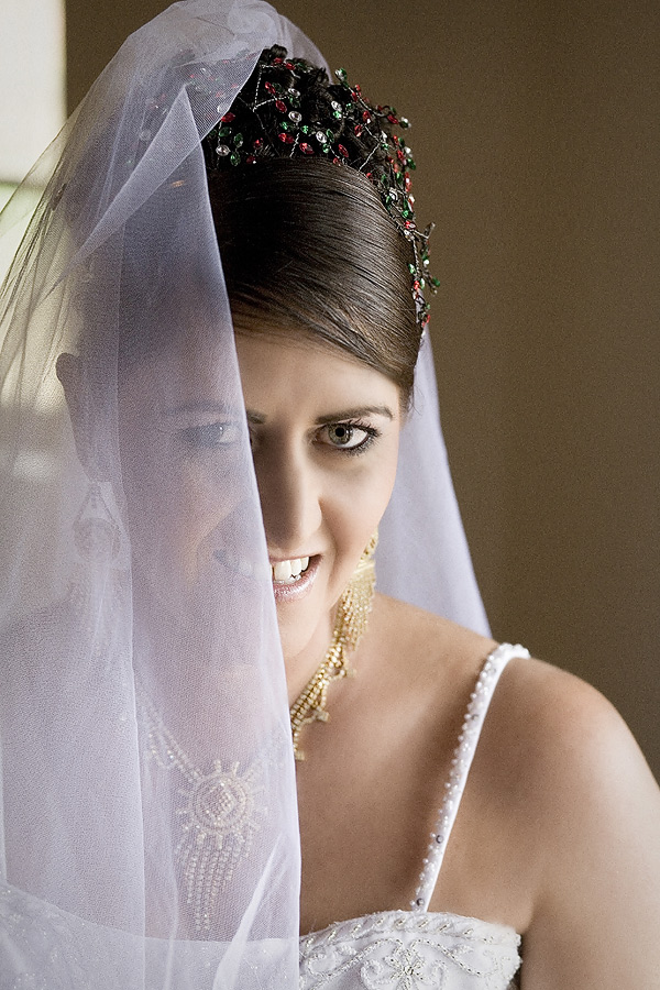 Portrait of the Bride during a weddinig in South Africa