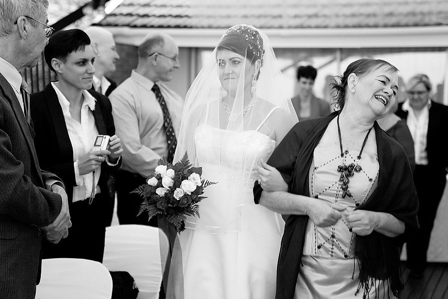 Wedding Photojournalism style of Bride and mother of the bride