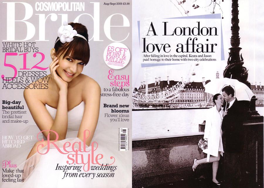 Cosmopolitan Bride Wedding Magazine feature