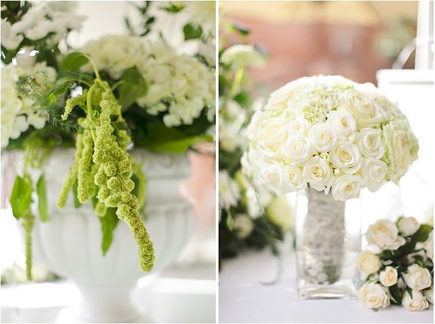 White Wedding Flower Ideas, Elegent white wedding