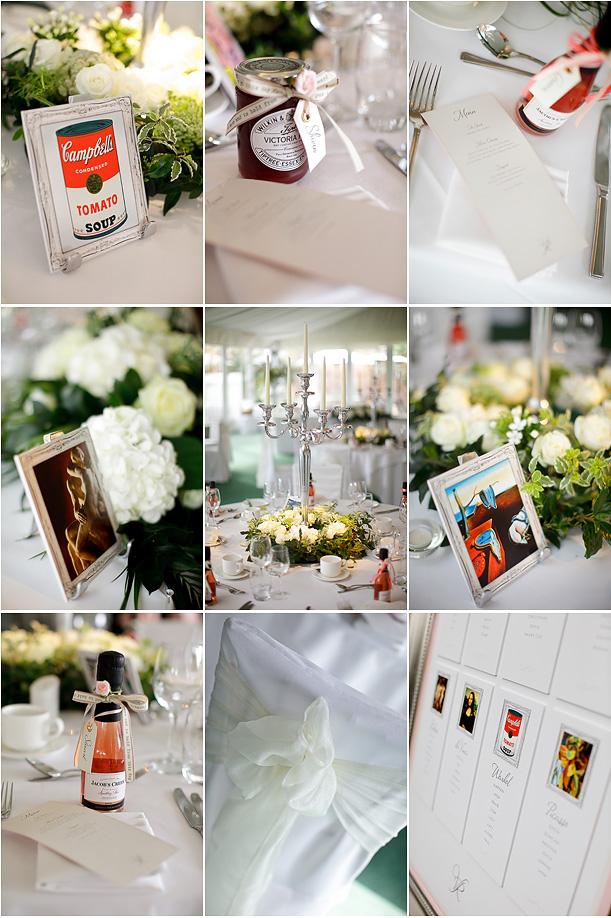 White Wedding Ideas Art infused wedding