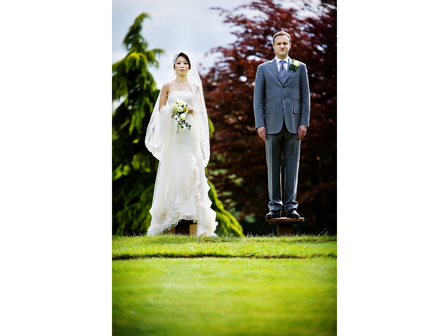 Title and Shift look image of Bride and Groom at Hartsfield Manor
