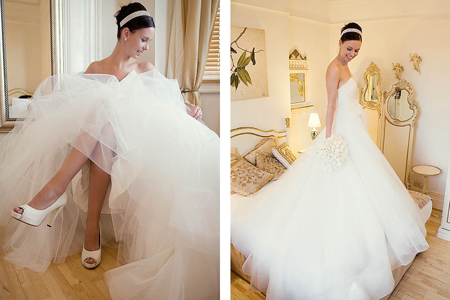 Bridal Portraits during preparation for the wedding ceremony