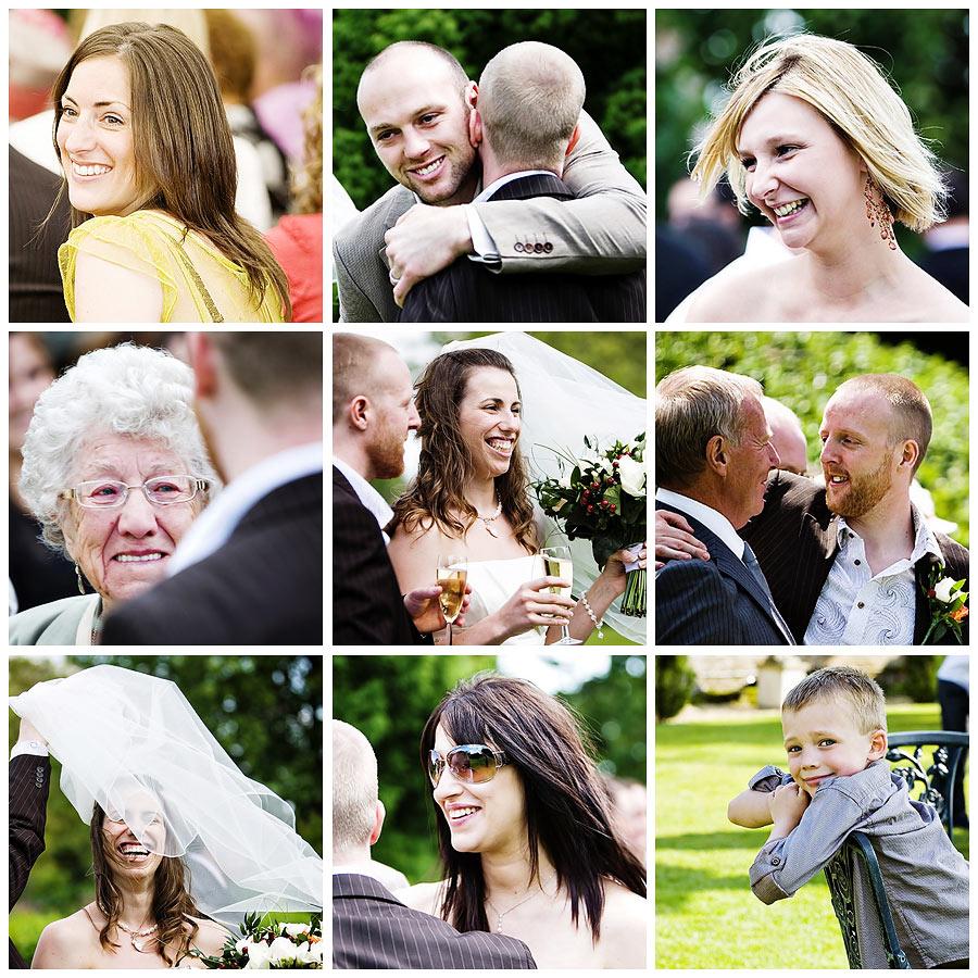 Wedding guests at parley manor dorset