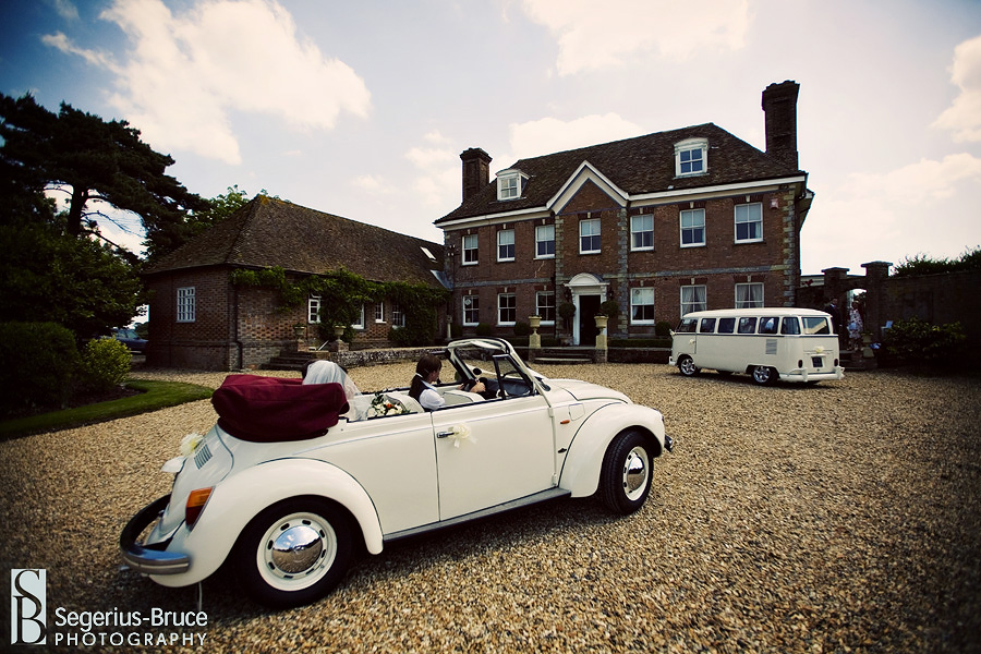 Parley Manor in Dorset, The Wedding Bug cars