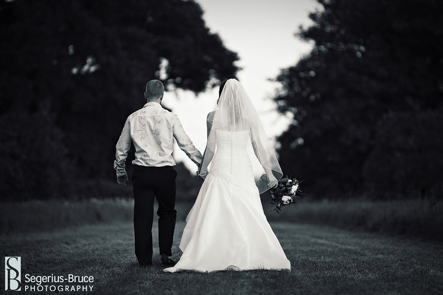 Black and White wedding photography at Parley Manor