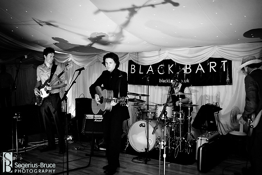 Black Bart playing live at Parley Manor Wedding