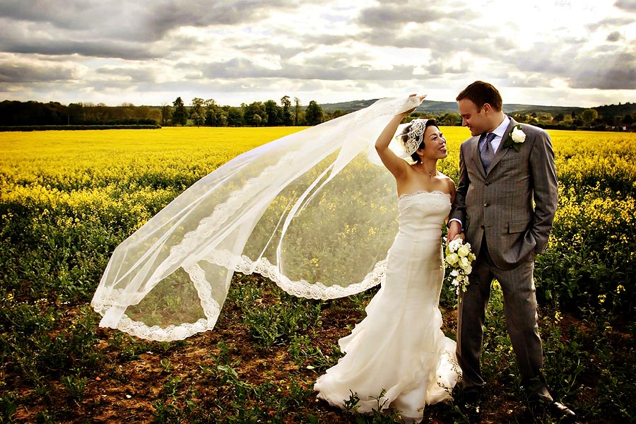Wedding photography in Surrey Rapeseed Fields