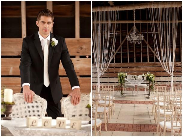 Rustic White Wooden Wedding at Gaynes Park (13)