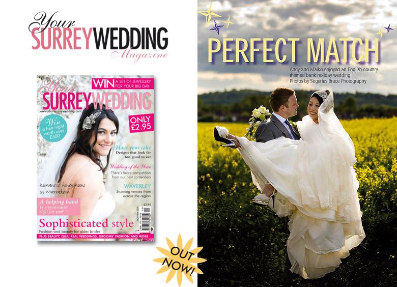 Your Surrey Wedding Magazine features Segerius Bruce Photography