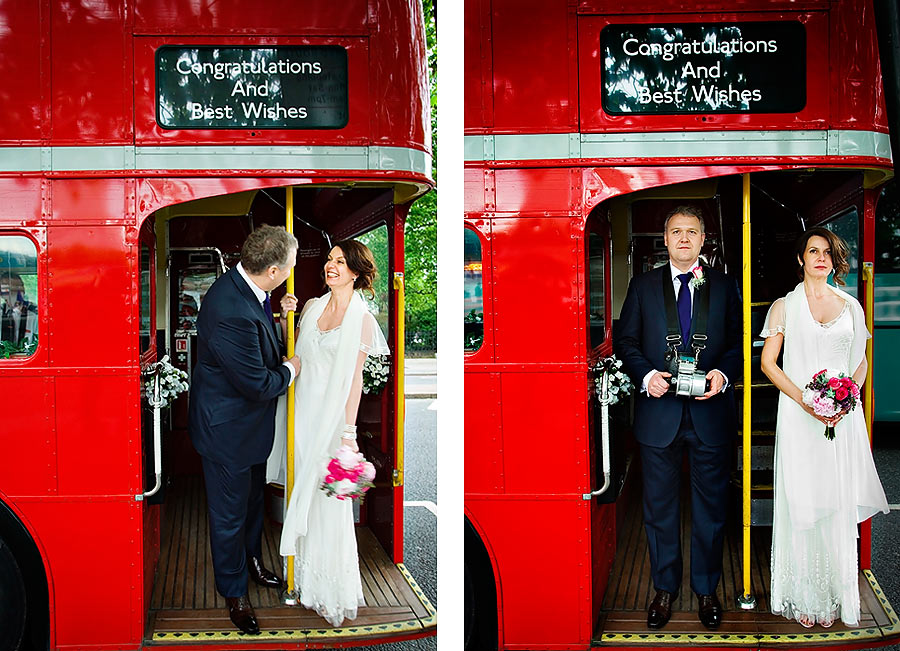 London Routemaster Bus for Wedding